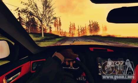 Subaru Forester 2008 Off Road para GTA San Andreas vista hacia atrás
