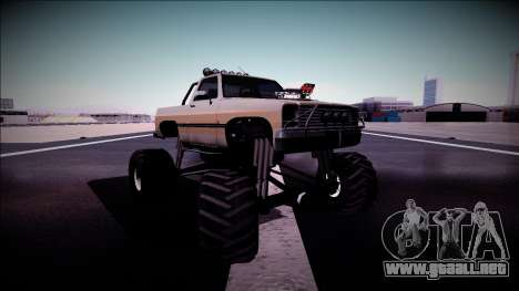 Rancher Monster Truck para la vista superior GTA San Andreas