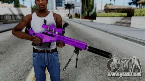 Purple Sniper para GTA San Andreas tercera pantalla