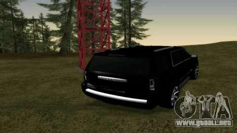 GMC Yukon 2015 para GTA San Andreas vista posterior izquierda