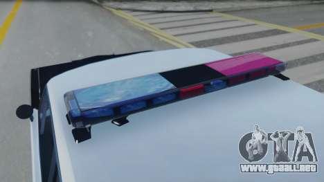 Dodge Dart 1975 v3 Police para GTA San Andreas vista hacia atrás