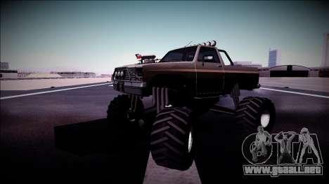 Rancher Monster Truck para vista inferior GTA San Andreas