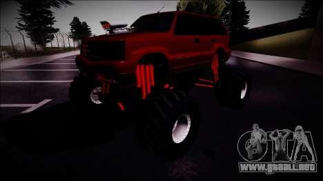 GTA 4 Cavalcade Monster Truck para la visión correcta GTA San Andreas