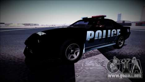 Chevrolet Camaro 1990 IROC-Z Police Interceptor para vista lateral GTA San Andreas