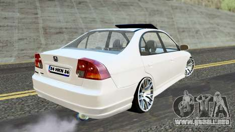 Honda Civic Vtec 2 para GTA San Andreas left