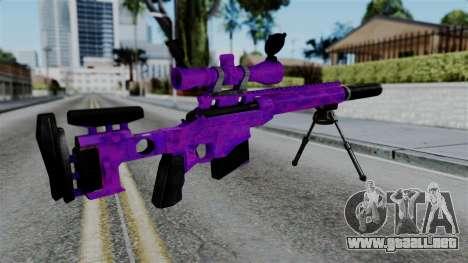 Purple Sniper para GTA San Andreas segunda pantalla
