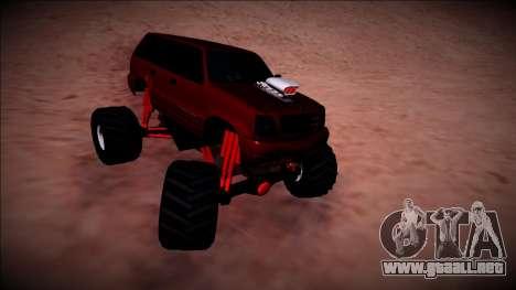 GTA 4 Cavalcade Monster Truck para visión interna GTA San Andreas
