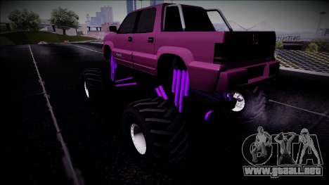GTA 4 Cavalcade FXT Monster Truck para GTA San Andreas left