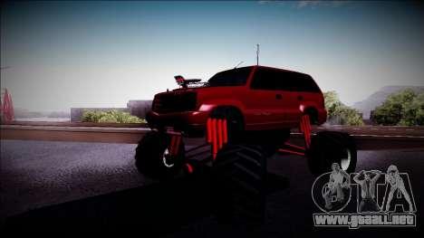 GTA 4 Cavalcade Monster Truck para GTA San Andreas left