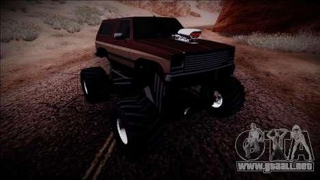 Rancher Monster Truck para la visión correcta GTA San Andreas