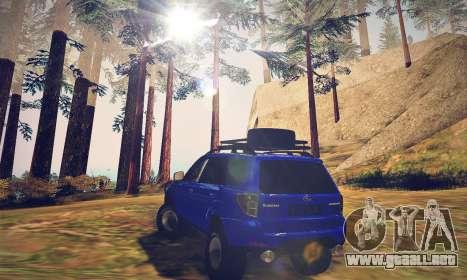 Subaru Forester 2008 Off Road para GTA San Andreas vista posterior izquierda