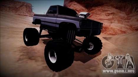 Rancher Monster Truck para visión interna GTA San Andreas