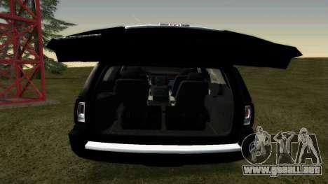GMC Yukon 2015 para la visión correcta GTA San Andreas
