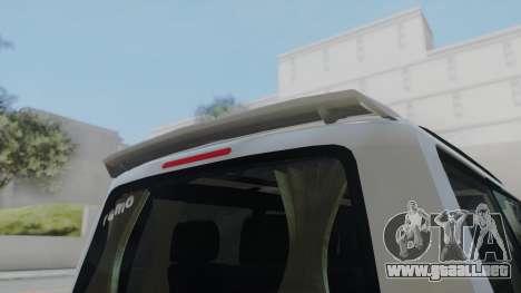 Volkswagen Transporter TDI para GTA San Andreas vista posterior izquierda