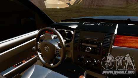 Nissan Frontier PRO-4X 2014 para la visión correcta GTA San Andreas