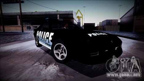 Chevrolet Camaro 1990 IROC-Z Police Interceptor para vista inferior GTA San Andreas