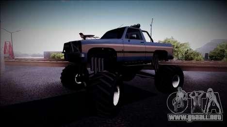 Rancher Monster Truck para GTA San Andreas left