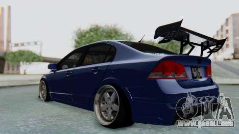 Honda Mugen FD6 para GTA San Andreas vista posterior izquierda