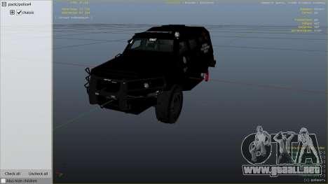 GTA 5 LAPD SWAT Insurgent vista lateral derecha