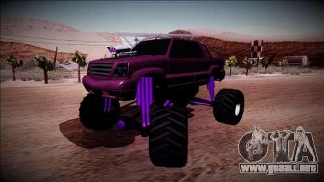 GTA 4 Cavalcade FXT Monster Truck para GTA San Andreas vista posterior izquierda