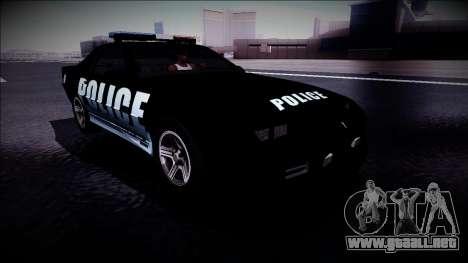 Chevrolet Camaro 1990 IROC-Z Police Interceptor para la visión correcta GTA San Andreas