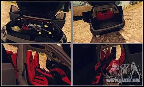 Subaru Forester 2008 Off Road para visión interna GTA San Andreas