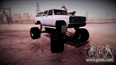 Rancher XL Monster Truck para vista inferior GTA San Andreas