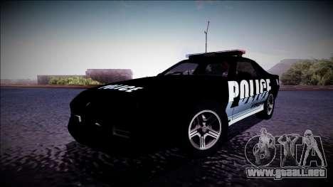Chevrolet Camaro 1990 IROC-Z Police Interceptor para GTA San Andreas left
