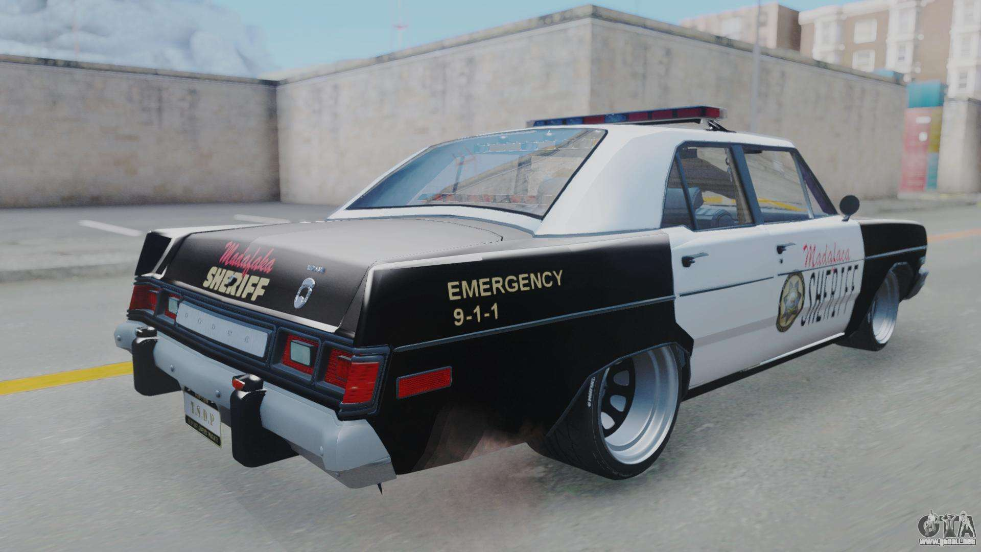 dodge dart 1975 v3 police para gta san andreas. Black Bedroom Furniture Sets. Home Design Ideas
