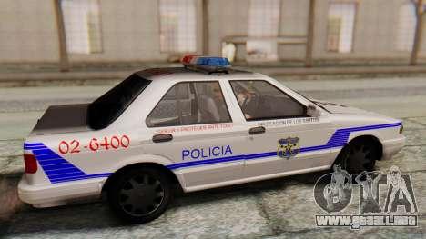 Nissan Sentra B13 2004 Patrol with a Salvadoran  para la visión correcta GTA San Andreas