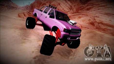 GTA 5 Vapid Sadler Monster Truck para GTA San Andreas vista hacia atrás