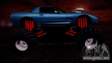Chevrolet Corvette C5 Monster Truck para la vista superior GTA San Andreas