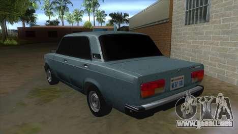 VAZ 2107 v1 para GTA San Andreas vista posterior izquierda