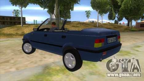 Dacia SuperNova para GTA San Andreas vista posterior izquierda