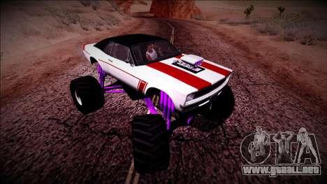 GTA 5 Declasse Tampa Monster Truck para visión interna GTA San Andreas