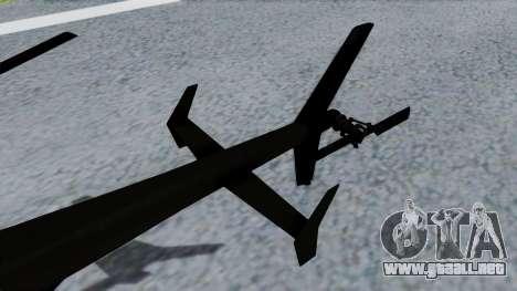 MH-9 Hummingbird Recon para GTA San Andreas vista posterior izquierda