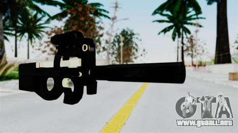 P90 Gold Silenced para GTA San Andreas