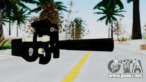 P90 Gold Silenced para GTA San Andreas