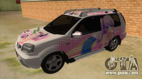 2005 Nissan X-Trail 2.5 XT Tomori Nao Itasha para GTA San Andreas