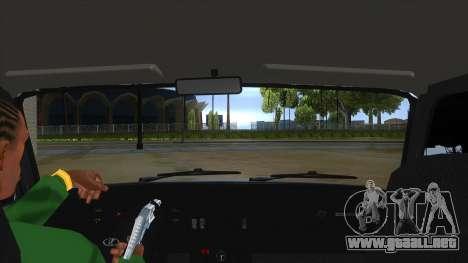 VAZ 2107 v1 para visión interna GTA San Andreas
