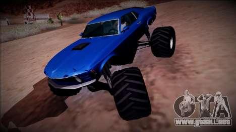 1970 Ford Mustang Boss Monster Truck para el motor de GTA San Andreas