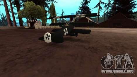 Fokker Dr1 triplane para visión interna GTA San Andreas