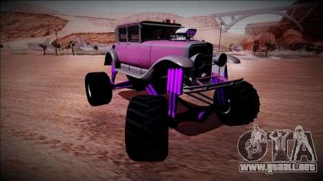 GTA 5 Albany Roosevelt Monster Truck para GTA San Andreas vista hacia atrás
