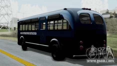 Parry Bus Police Bus 1949 - 1953 Mafia 2 para GTA San Andreas left