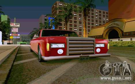Stafford Limousine v2.0 para GTA San Andreas vista posterior izquierda