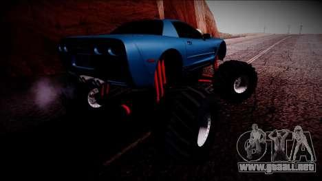 Chevrolet Corvette C5 Monster Truck para vista inferior GTA San Andreas