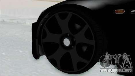Honda S2000 Berlin Black para GTA San Andreas vista posterior izquierda