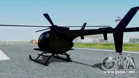 MH-9 Hummingbird Recon para GTA San Andreas left