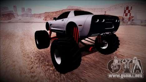 Chevrolet Corvette C5 Monster Truck para GTA San Andreas left