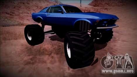 1970 Ford Mustang Boss Monster Truck para la vista superior GTA San Andreas